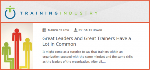 Training Industry Trainers and Leaders