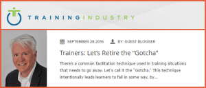 "Trainers: Let's Retire the ""Gotcha"" by Dale Ludwig"